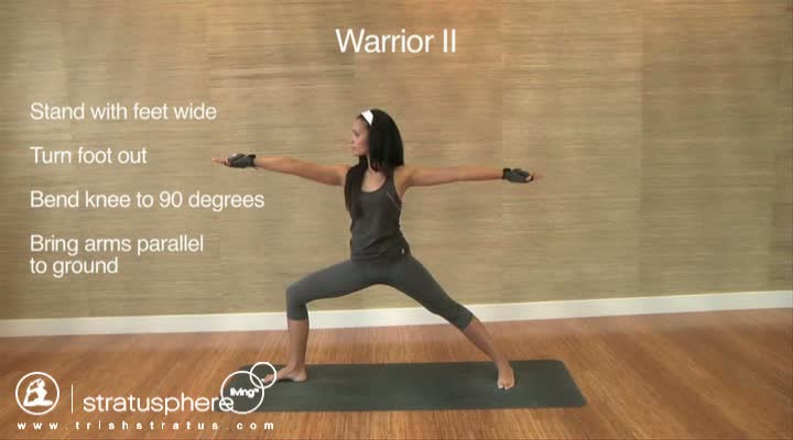 Stratusphere Yoga DVD: Warrior II