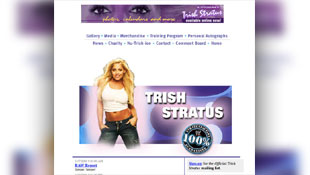 TrishStratus.com's homepage through the years