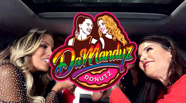 Video: Trish & Lita on DaMandyz Donutz